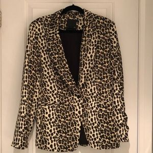 Madison Cinqcent Leopard Blazer